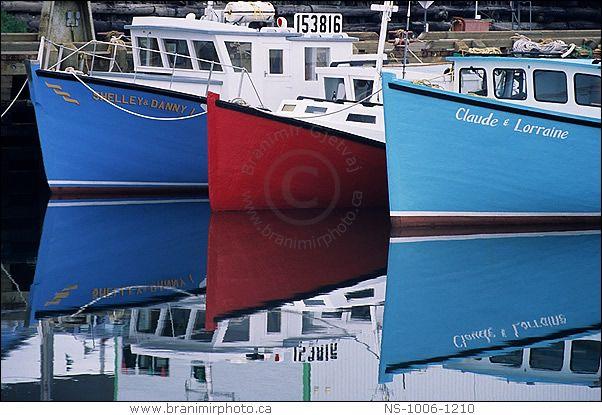 Fishing boats in Cheticamp harbour, Cape Breton Island