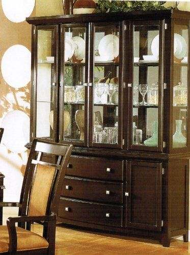 china cabinet buffet hutch with storage drawers black