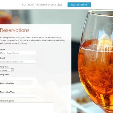 Tema WordPress Gratis Restaurantes Bares