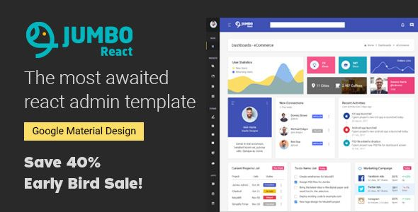 React Material BootStrap 4 Admin Template | Website
