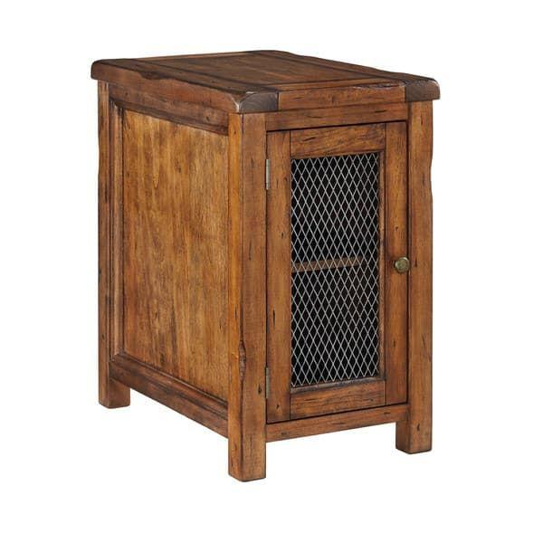 Signature Design by Ashley Tamonie Medium Brown Chair Side End Table
