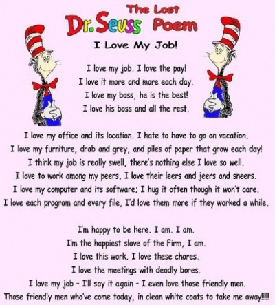 The lost Dr Suess Poem (apparently). Oh my god....this is too funny!!!!