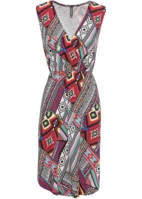 Letní šaty s květinovým potiskem černo-růžově-fialový vzor - Žena -  BODYFLIRT boutique - bonprix.cz 229a6f42de