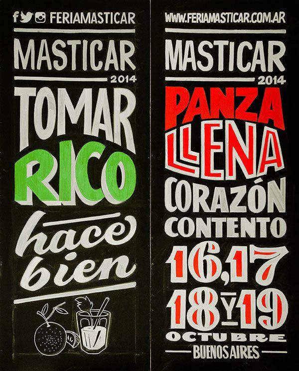 "type-lover: ""Masticar 2014 1/2 by Yani Arabena & Guille Vizzari """
