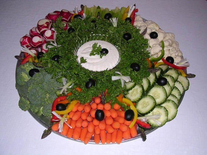 Fresh Vegetable Tray Layout