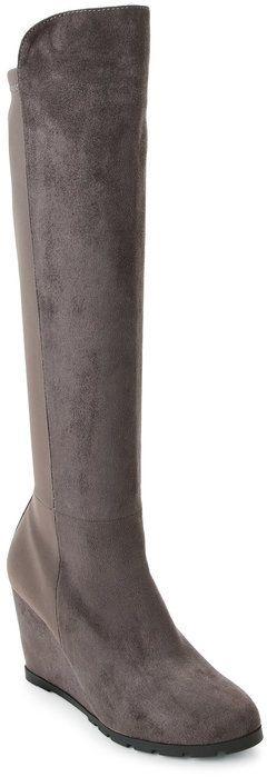 Catherine Malandrino Grey Wellington Knee-High Wedge Boots