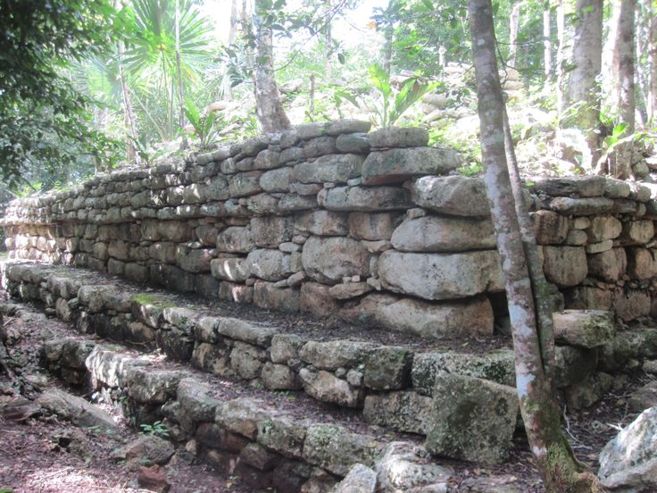 Mayan ruins in our Mayan Village activity.  We explore and maintain these grounds