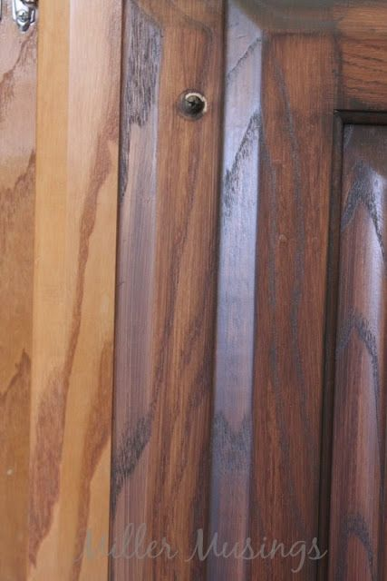Miller Musings: Staining the Bathroom Cabinets Tutorial General finishes antique walnut