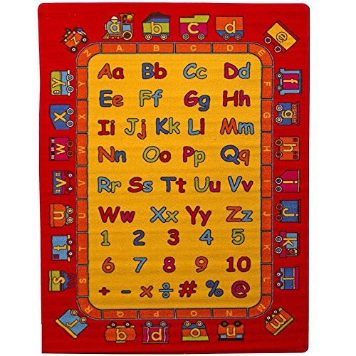 Kids Rug ABC Fun Learning 5 X 7 Children Area Rug Non Skid Gel Backing 59. 20 best Playroom Rug images on Pinterest