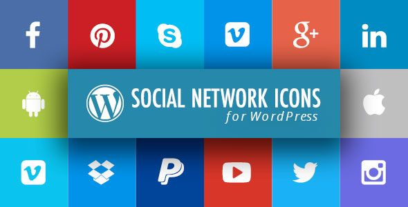 nice WordPress Social Network Icons Plugin with Layout Builder (Miscellaneous)
