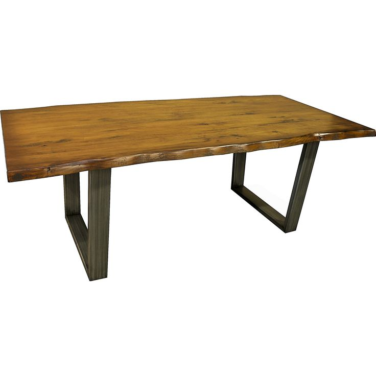 A unique piece of art this lovely table is built one at a time using only the best materials available. With a solid 2-inch thick top with a hand carved detail over a live wood edge, the table also features a handmade base composed of wrought iron.