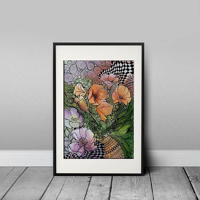 Abstract  15x21 cm (2016) www.facebook.com/AnnaLipowskaArt #annalipowska #linework #micronpen #doodle #abstract #interior #penart #decor #poster #daily_art #sketch #акварель #aquarelle #illustration #drawing #watercolor #painting #ink #art #artwork #ilustrator #artist #arte #modernart #zenart #colorful #flowers