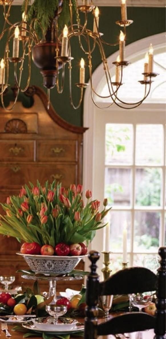 34 best christmas florals images on pinterest floral for Formal dining centerpiece