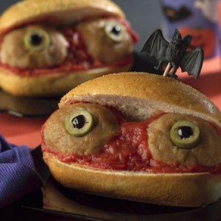 Panini con gli occhi per feste Halloween bambini