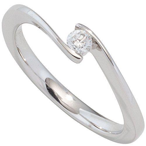 JOBO Damen Ring 585 Gold Weißgold 1 Diamant Brillant 0,20ct. Diamantring Größe 54 Jobo http://www.amazon.de/dp/B014352EXI/?m=AMWB9IWQTFGZU