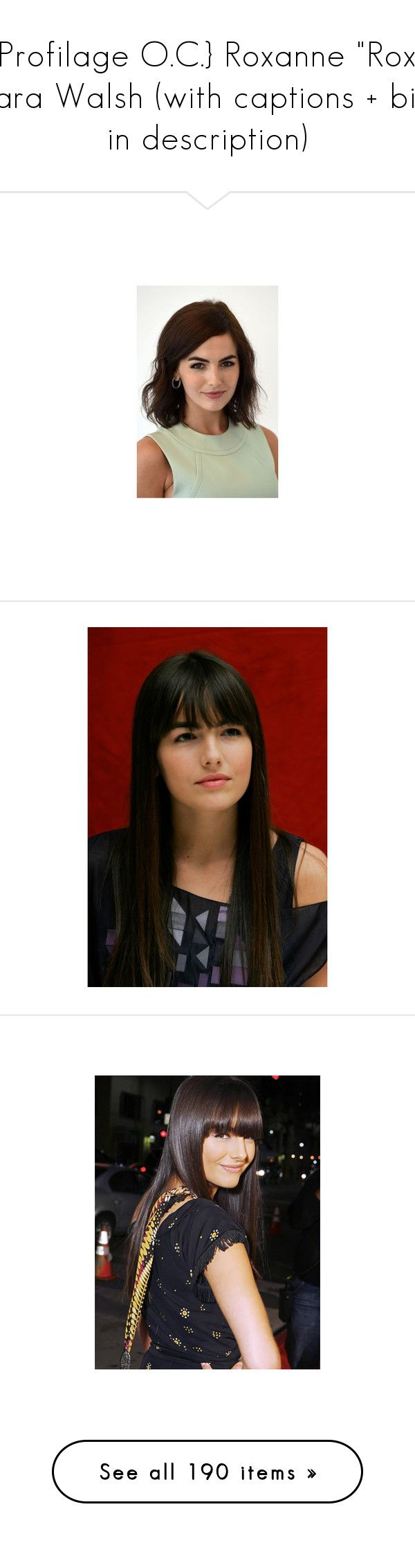 """""""{Profilage O.C.} Roxanne """"Rox"""" Lara Walsh (with captions + bio in description)"""" by katlayden ❤ liked on Polyvore featuring camilla belle, celebrities, pictures, people, backgrounds, girls, smoke, pics, animals and photos"""