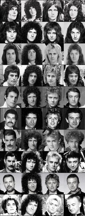 Queen throughout the years.