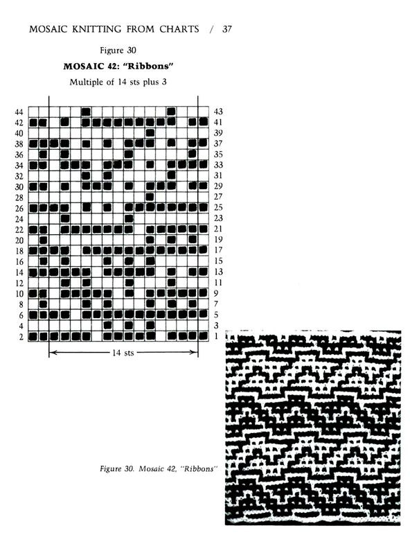 Mosaic Knitting Barbara G. Walker (Lenivii gakkard) Mosaic Knitting Barbara G. Walker (Lenivii gakkard) #42