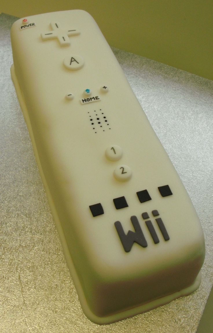 Cool cake! Who wants to play on the Wii!
