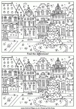 Find The Differences - Christmas Street                                                                                                                                                      More