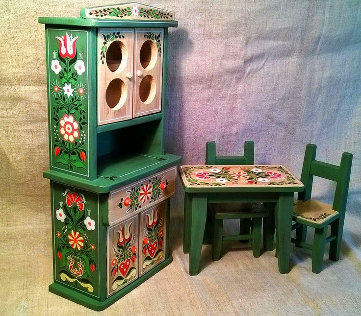 • Festett gyerek játék bútor
