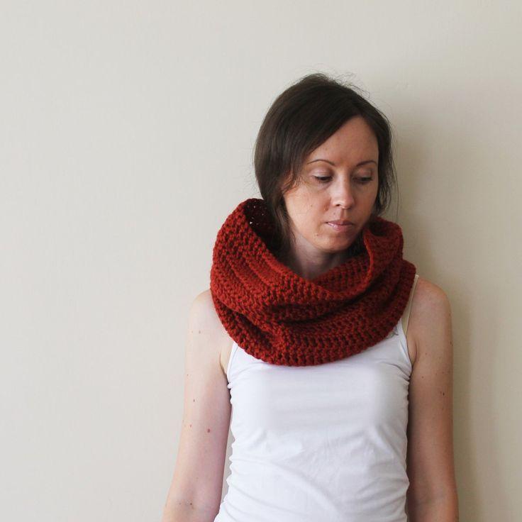 Crochet cowl.