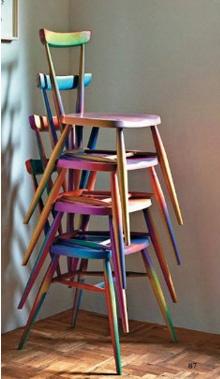 sillas coloridas