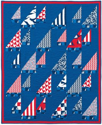 Quilt Inspiration: Free Pattern Day: Sailboats