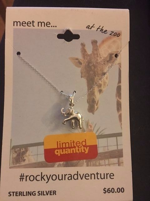 """New Meet me at the Zoo Sterling silver Elephant necklace...(Trunk is up which is good luck) 18"""" Retail $60, Limited...free shipping usa"""