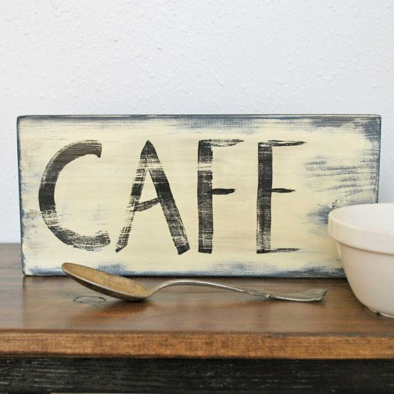 Cafe vintagestyle wall sign by SummerRoad on Etsy, $18.00