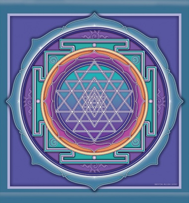 Sri YantrabyBryon Allen  Meditation on the Sri Yantra assists in the fulfillment of hopesand dreams.The Sri Yantra is a beloved and timeless spiritualsymbol, offering a steady vibration of positive energy.
