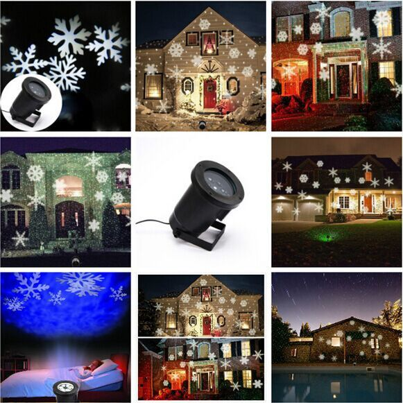 YG waterproof ip65 outdoor christmas projection light,outdoor christmas white laser lights snowflake free shipping