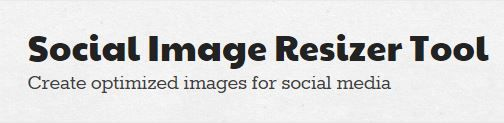Create optimized images for social media.Resize and crop your images for web use Today there are innumerable uses for photos and images on the web. Websites need favicon and content images, people need Twitter profile pictures and Facebook profile banners, others want to create custom-sized photos for other uses – the need is endless.
