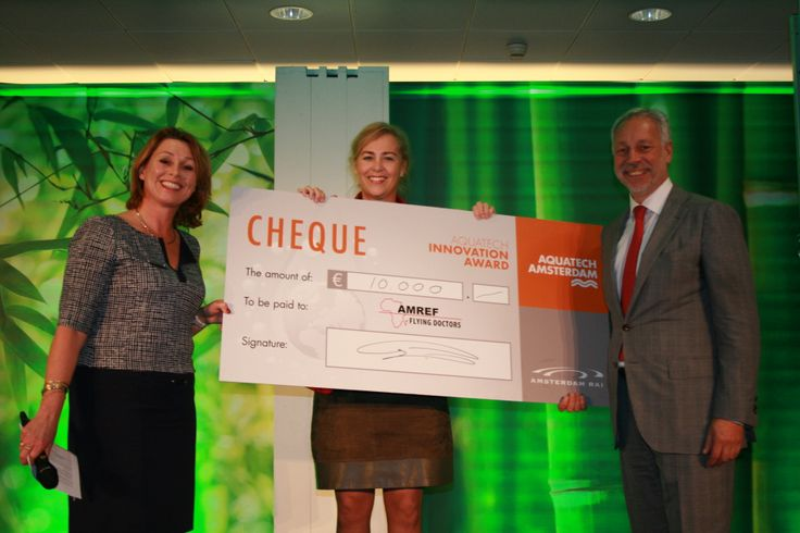 Cheque for AMREF