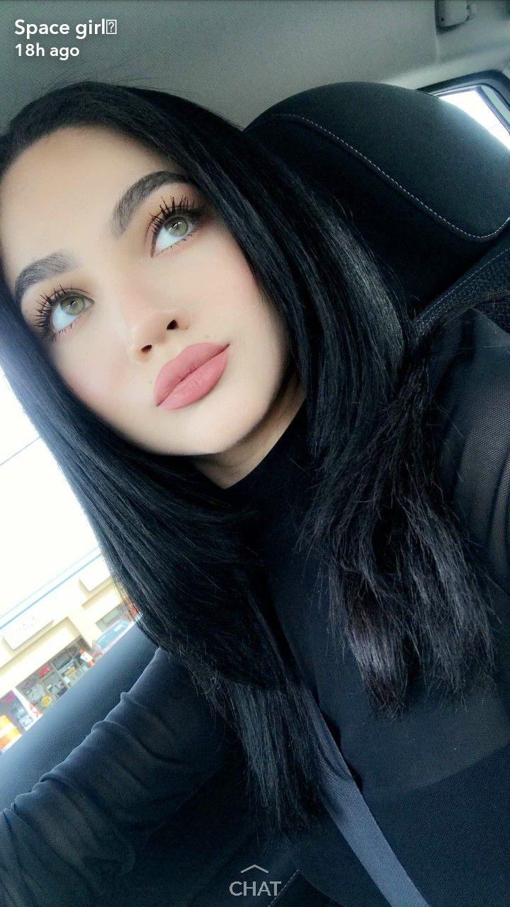 Nessagomez98 Black Hair Green Eyes Black Hair Pale Skin Black Hair Makeup
