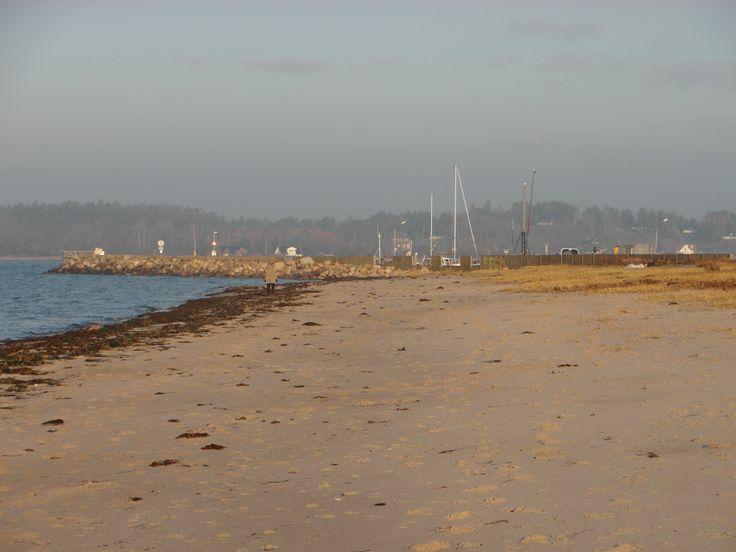 Kulhuse strand efter stormen 2014