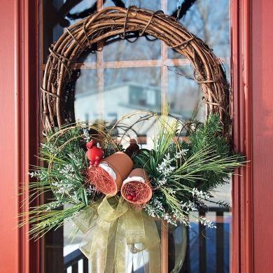 Couronne hivernale - Fêtes - Inspirations - Décoration et rénovation - Pratico Pratique