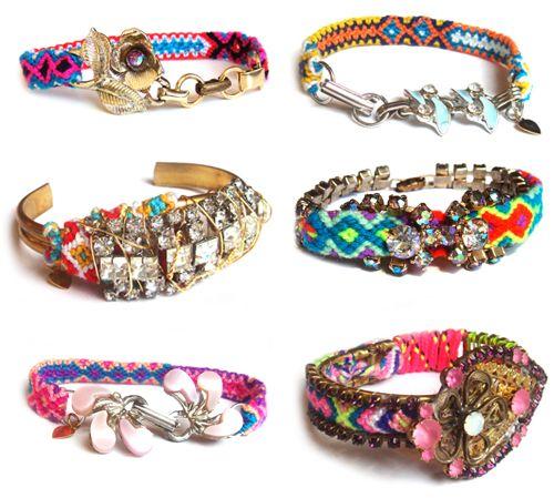 Vintage Twist on Friendship Bracelets: Decor Ideas, Vintage Wardrobe, Bracelets Collection, Cool Friendship Bracelets, Vintage Friendship, Diy Gifts, Vintage Inspiration, Vintage Style, Bling Bling