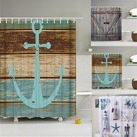 DÉCORATIONS DE PLAGE Wish | Shower Curtain with 12 pcs Hooks Waterproof Mildewproof Bath Curtain