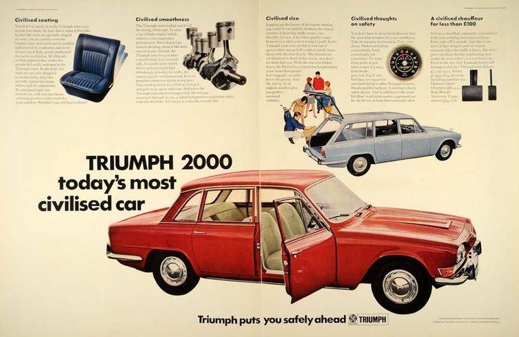 1967 Ad Triumph 2000 Car Red Sedan Blue Station Wagon Original Advertising LN1   eBay