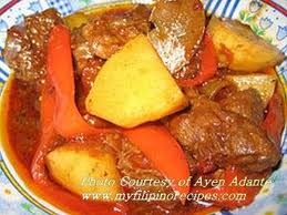 Beef and potatoes
