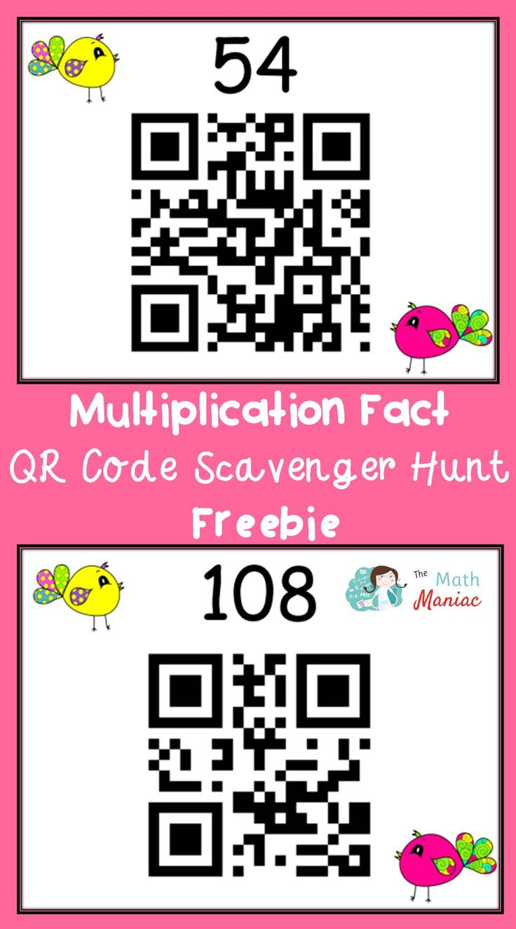 Have you tried a QR code scavenger hunt? Now is your chance to try one for free! Grab this spring themed QR code hunt and help your students practice their multiplication facts.