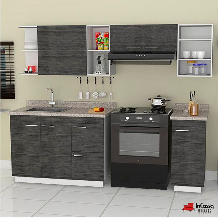 Cocina Mod. VALENCE 2.40m. PRECIO: Diseñada para ESTUFA $7,490 / / / Diseñada para PARRILLA $9,490.