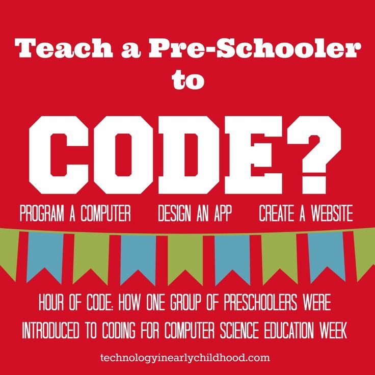 "Teach a Preschooler to Code for ""Hour of Code"" Week? You Bet! technologyinearlychildhood.com"