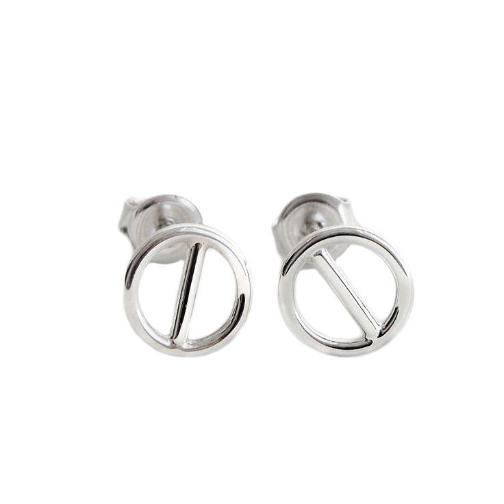 MILA ROD ear studs, silver