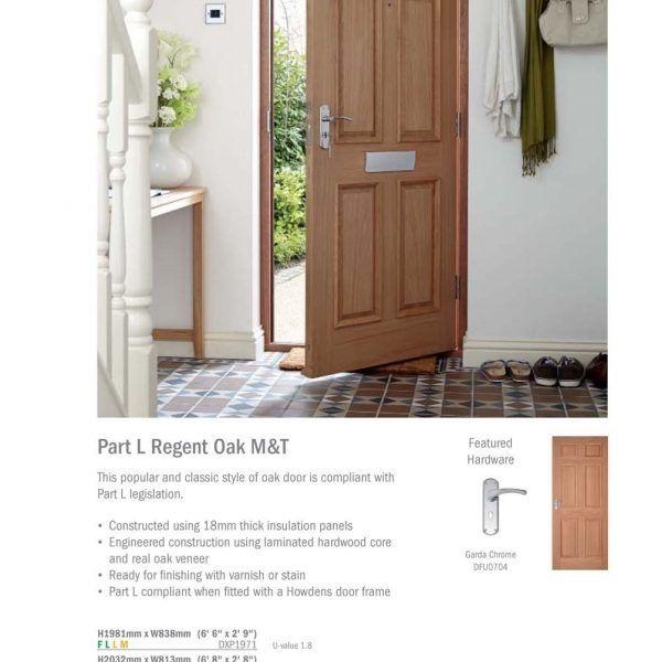 Classic style of oak door107