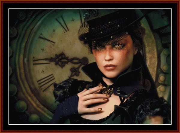 Cross Stitch Collectibles - Detail1 - FANP-05 - Steampunk Time - All cross stitch patterns - NEW - Fantasy - Portraits - Cross Stitch Collectibles