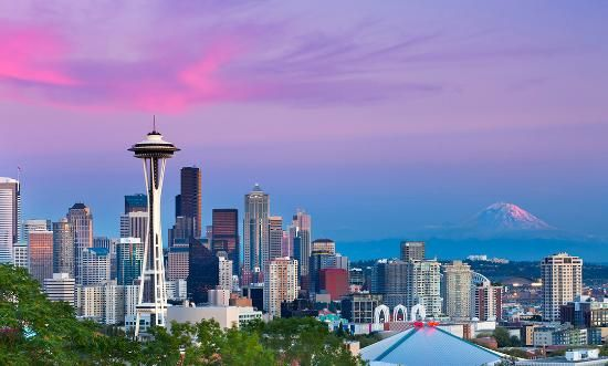 Seattle--A really nice, number one place to spend a special occasion with a special someone, see museums and bookstores, not to mention Pike Place. Would be nice to have dinner or lunch at the Space Needle for the first time.