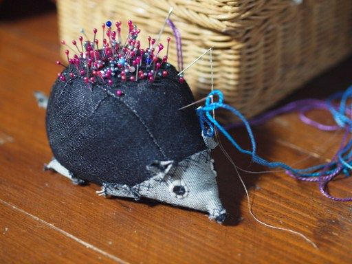 Porcupine Denim Pincushion