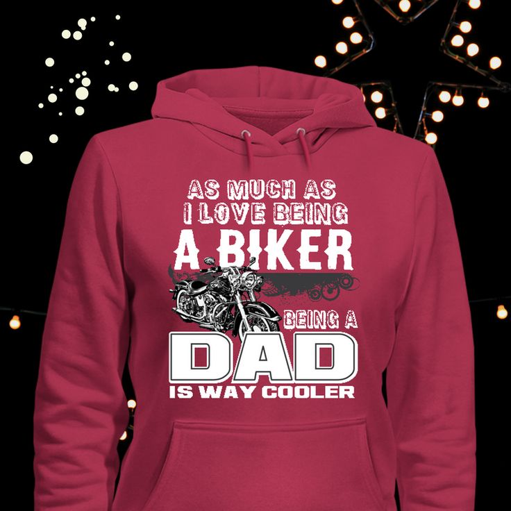 What BIKER DAD wouldn't love to receive this hoodie, this Christmas?